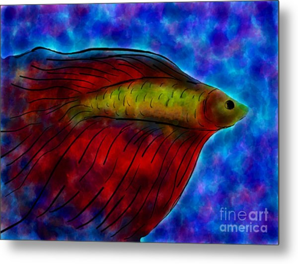 Siamese Fighting Fish II Metal Print