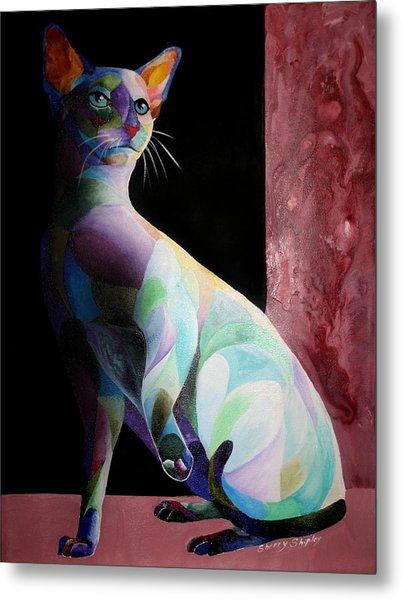 Siamese Shadow Cat 1 Metal Print