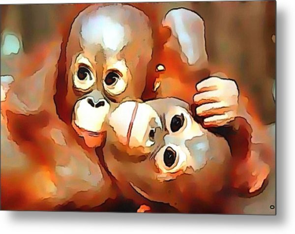 Siblings Metal Print