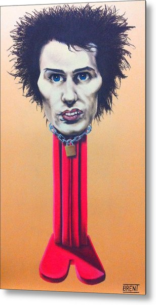 Sid Vicious Metal Print by Brent Andrew Doty