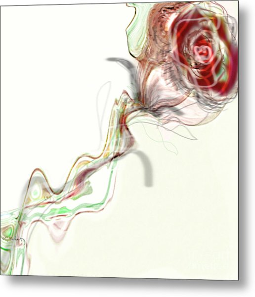 Side Rose Metal Print