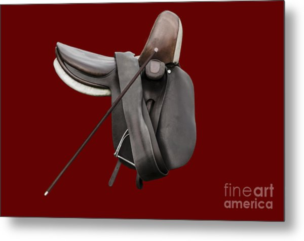 Sidesaddle And Crop Metal Print
