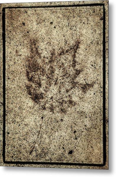 Sidewalk Imprint Metal Print