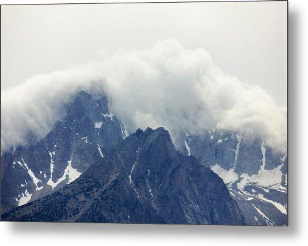 Sierra Clouds Metal Print