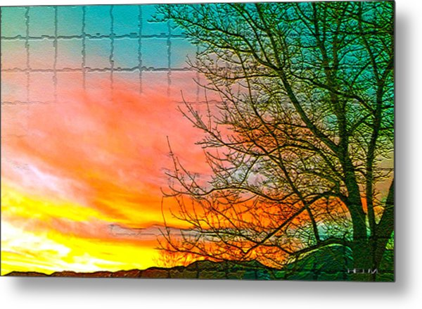 Sierra Sunset Cubed Metal Print