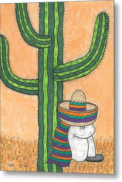 Siesta Saguaro Cactus Time Metal Print