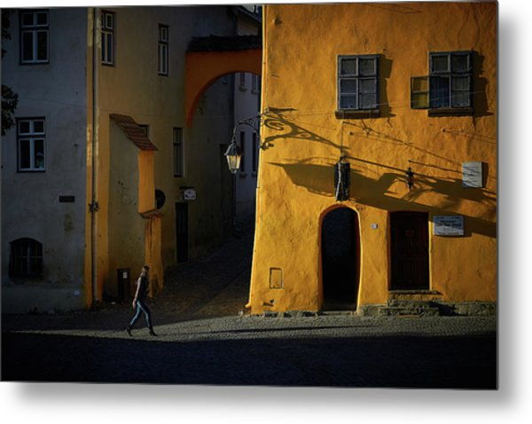 Sighisoara Metal Print by Cristian Lee