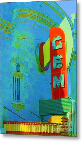 Sign - Gem Theater - Jazz District  Metal Print