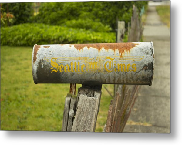 Sign Of The Times Seattle Times Metal Print