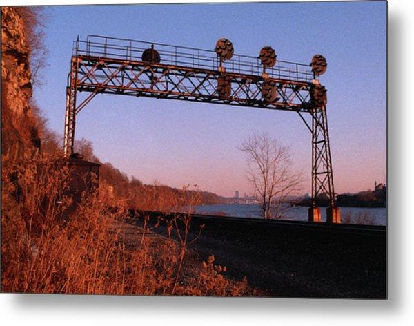 Signal Bridge Along Ohio River Near Pittsburgh Metal Print by Eric Miller