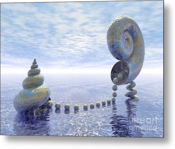 Silent Love - Surrealism Metal Print