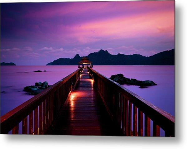 Silent Sunset In Pulau Langkawi Metal Print