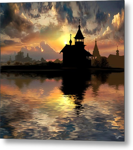 Silhouettes Of The Christianity Metal Print by Igor Zenin