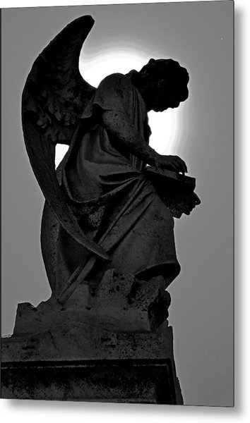 Silhoutte Angel Metal Print