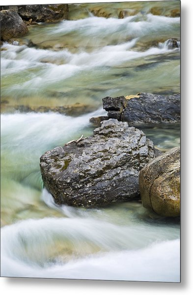 Silk And Stone Johnston Canyon Metal Print