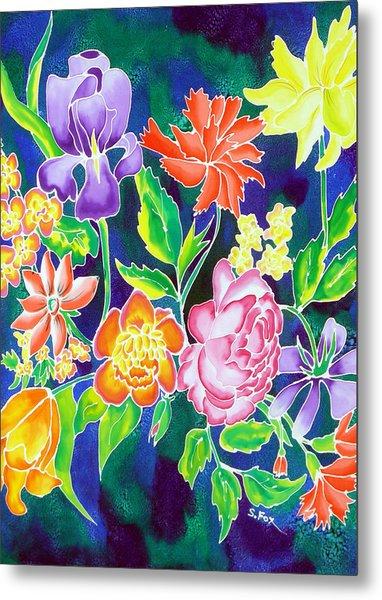 Silk Floral 1 Metal Print