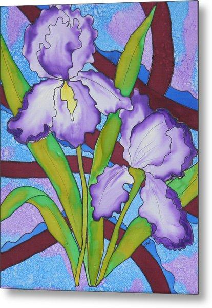 Silk Iris Metal Print