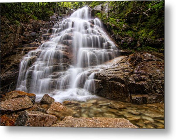 Metal Print featuring the photograph Silky Veil Cloudland Falls Lincoln Nh by Jeff Sinon