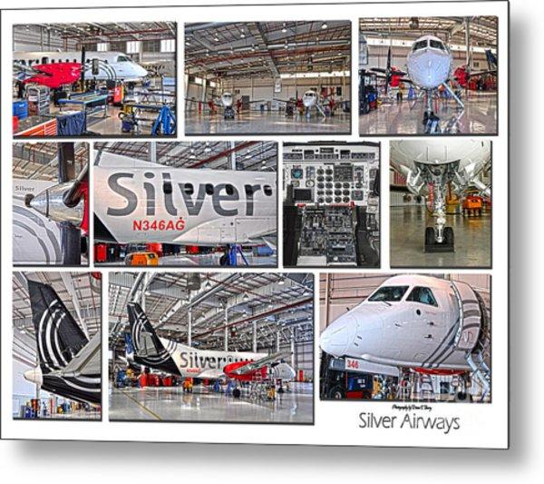 Silver Airways Large Composite Metal Print