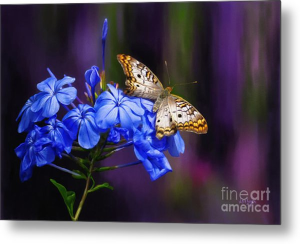 Metal Print featuring the digital art Silver And Gold by Lois Bryan