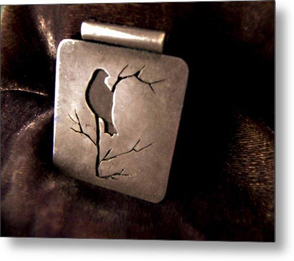Silver Bird Metal Print
