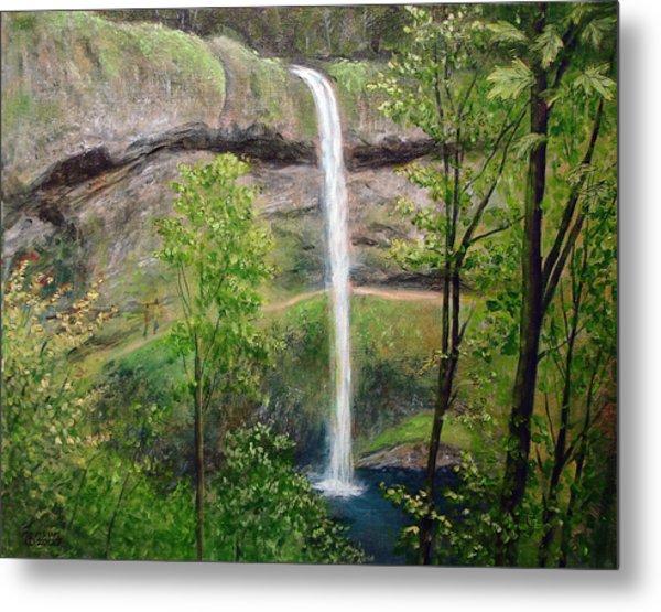Silver Creek Falls Metal Print