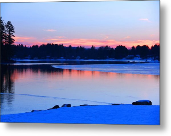 Silver Lake In The Evening Metal Print