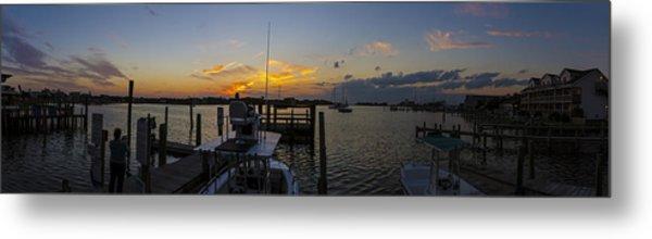 Silver Lake Sunset Panorama Metal Print