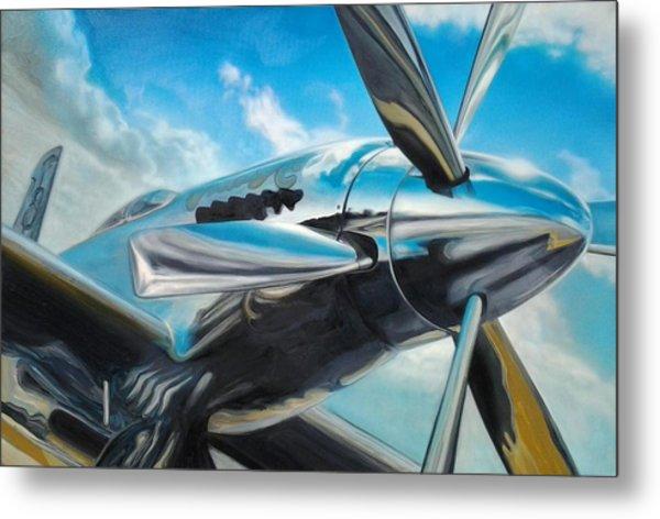Silver Sky Plough Metal Print by Riek  Jonker