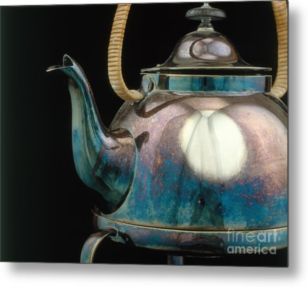 Silver Tarnish On Kettle Metal Print