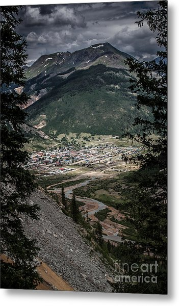Silverton View From Above Metal Print