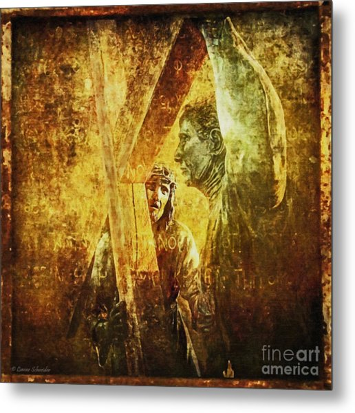 Simon Helps Jesus Via Dolorosa 5 Metal Print