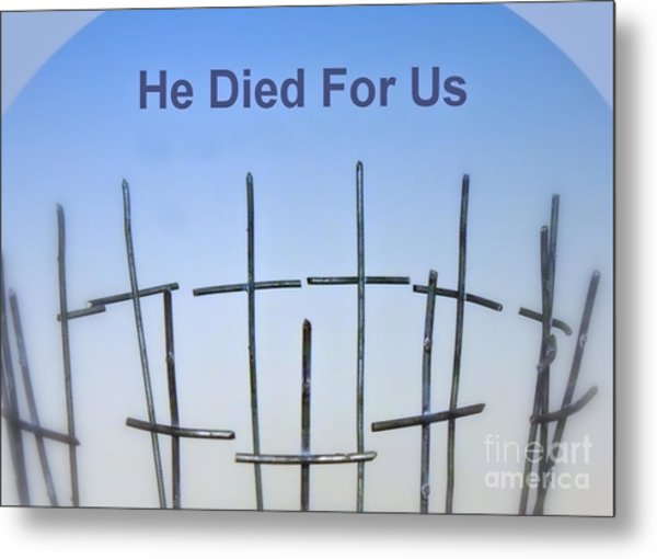 Simple Cross Metal Print
