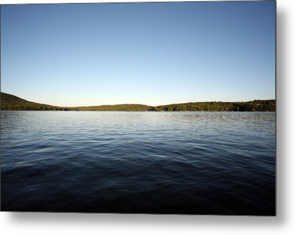 Simply Water And Sky Metal Print
