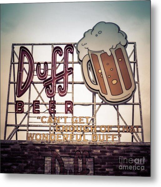 Simpsons Duff Beer Neon Sign Metal Print