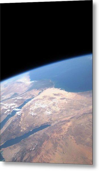 Sinai Peninsular From Space Metal Print