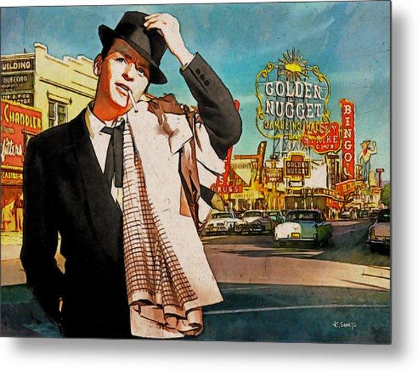 Sinatra In Vegas 1955 Metal Print
