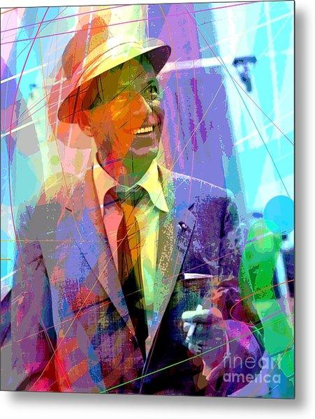 Sinatra Swings Metal Print