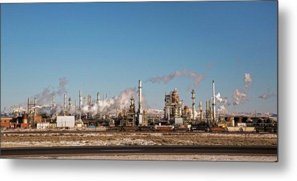Sinclair Oil Refinery Metal Print