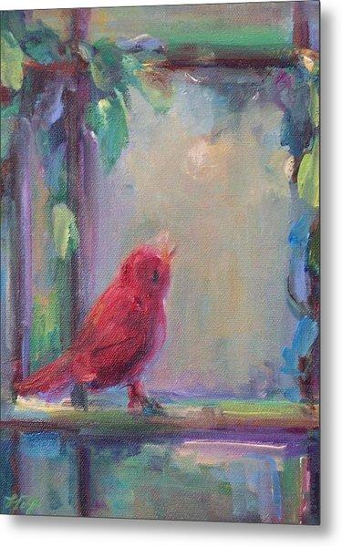 Sing Little Bird Metal Print