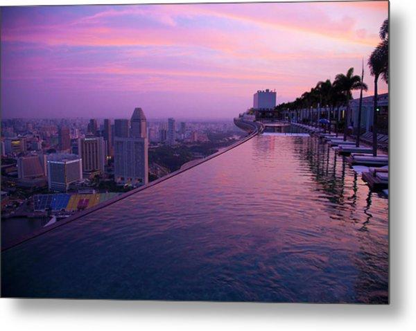 Singapore, Marina Bay Sands Hotel Metal Print by Jaynes Gallery