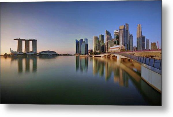 Singapore Skyline Panoramic View Metal Print by © Copyright Kengoh8888