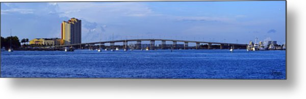 Singer Island Bridge Metal Print