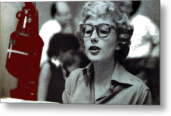 Singer Pianist Blossom Dearie  No Known Date Metal Print