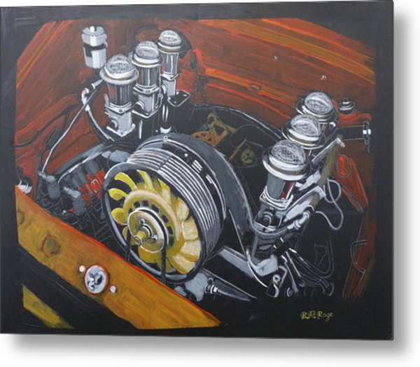 Singer Porsche Engine Metal Print