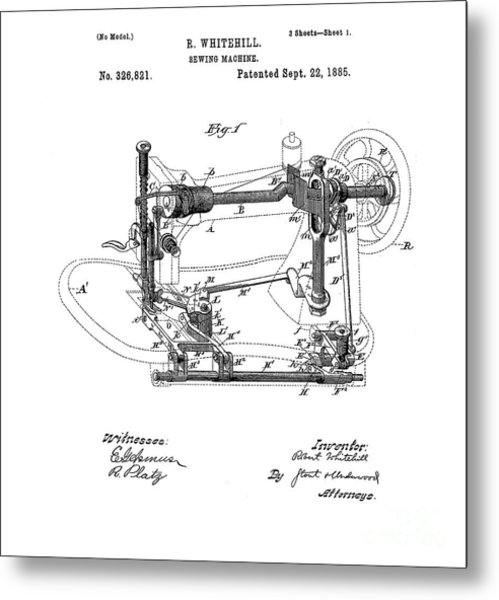 Singer Sewing Machine Company Metal Prints And Singer Sewing Machine