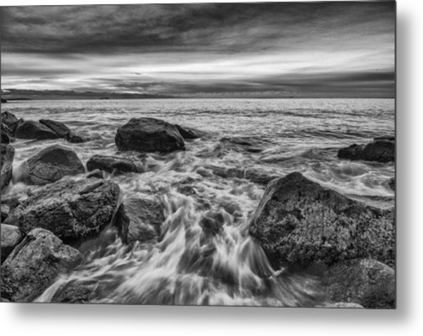 Metal Print featuring the photograph Singing Sunrise B And W by Michael Hubley