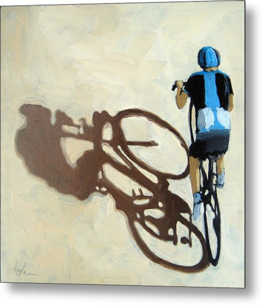 Single Focus Bicycle Art Metal Print