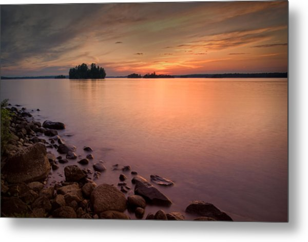 Sioux Narrows Sunset Metal Print