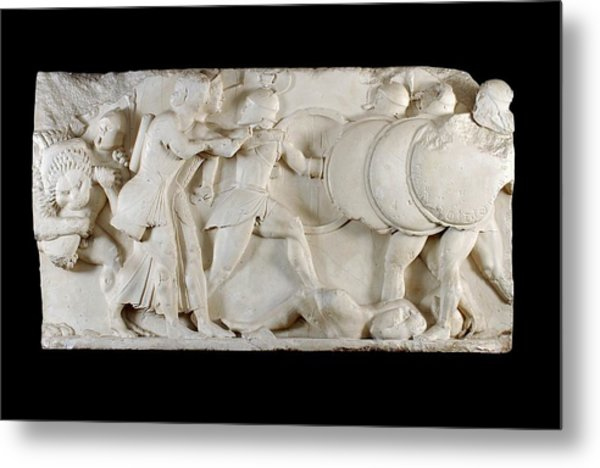 Siphnian Treasury Frieze Metal Print by Ashmolean Museum/oxford University Images